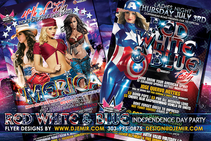 independence day party flyer template .